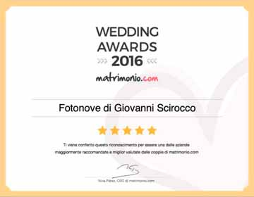 WEDDING AWARDS 2016 miglior fotografo provincia di Latina
